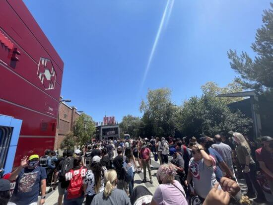 Spider-Man Stuntronic Crowds at Avengers Campus
