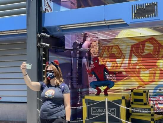 Spider-Man interactive experience at Avengers Campus