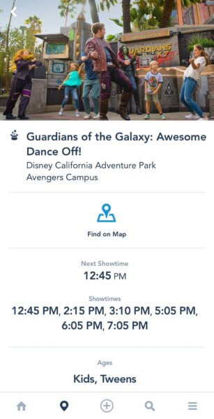 guardians of the galaxy showtimes