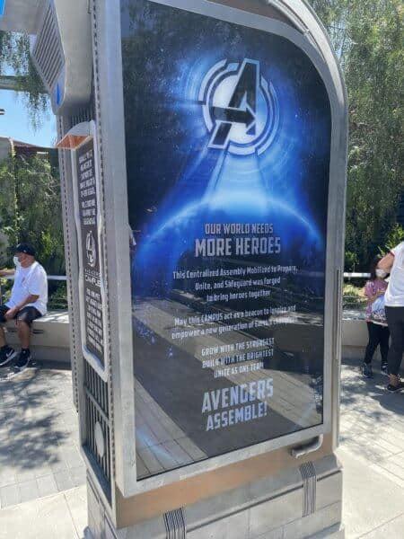 Avengers Campus Random Sign
