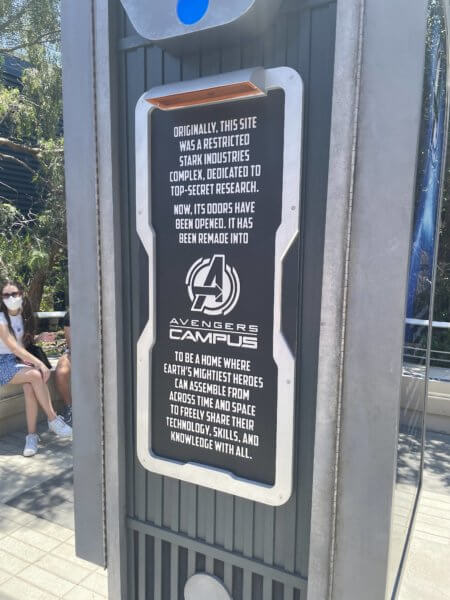 Avengers Campus Stark Industries Sign