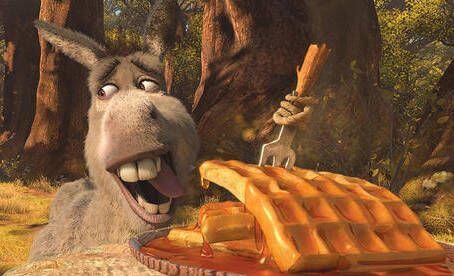 Donkey Eating Waffles Shrek