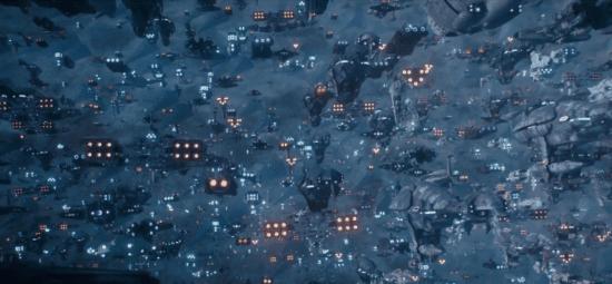 galaxy fleet scene rise of skywalker