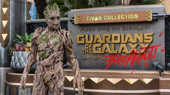 Groot Guardians of the Galaxy Mission Breakout