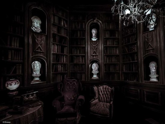 haunted mansion library