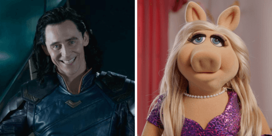 Tom Hiddleston Miss Piggy