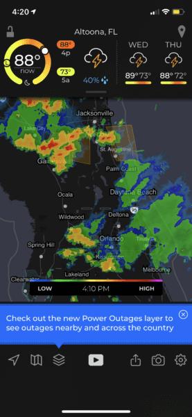 florida storms rain
