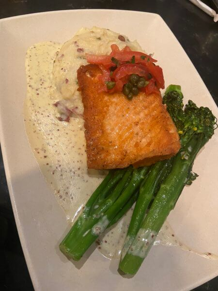 hollywood and vine salmon dinner