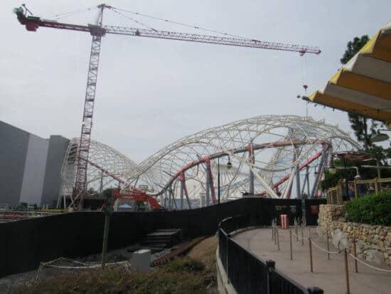 disney world tron construction