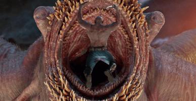 drax fighting monster