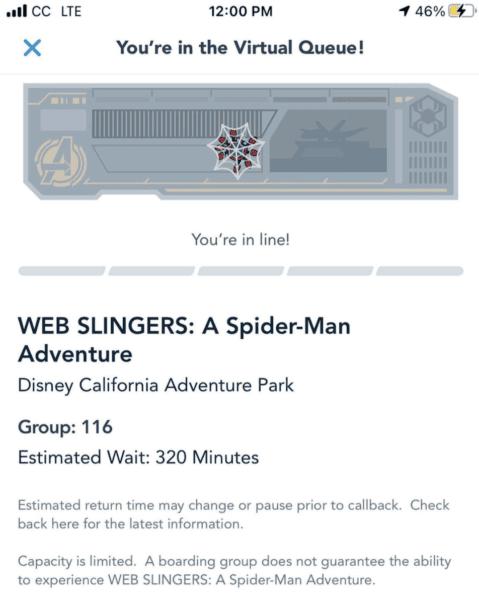 Web Slinger Virtual Queue