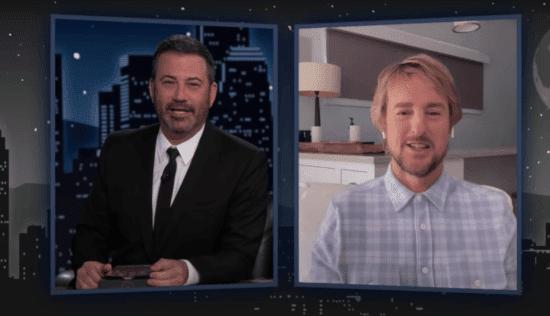 Jimmy Kimmel left, Owen Wilson right