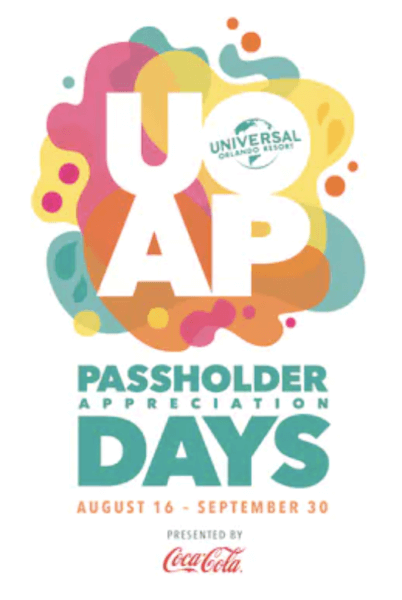 Universal Orlando Passholder Appreciation Days