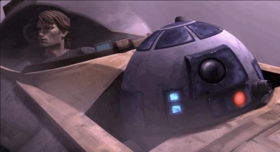 anakin skywalker and r2-d2 in clone wars