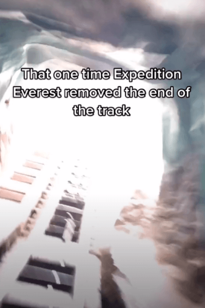 expedition everest missing track
