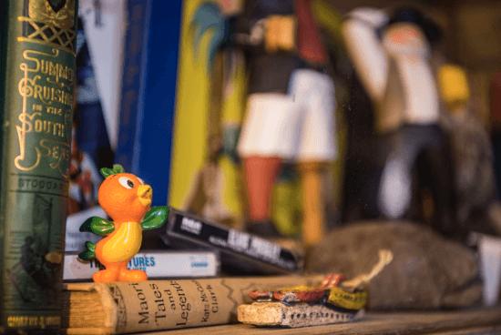 orange bird figure at trader sam's grog grotti