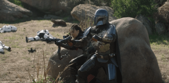 din djarin and fennec shand in the mandalorian