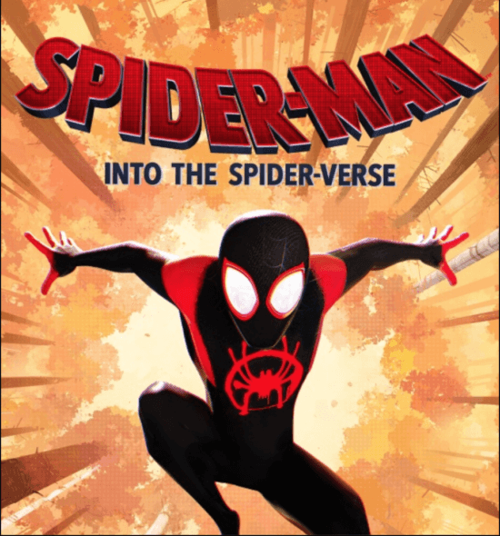 Spiderman Into The Spider-Verse Poster with Miles Morales jumping forward