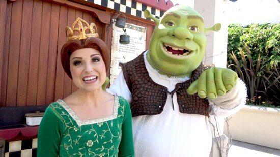 Shrek and Fiona Universal Hollywood