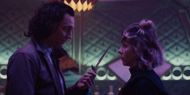 Tom Hiddleston as Loki (left) Sophia Di Martino as Sylvie (right) love dagger)
