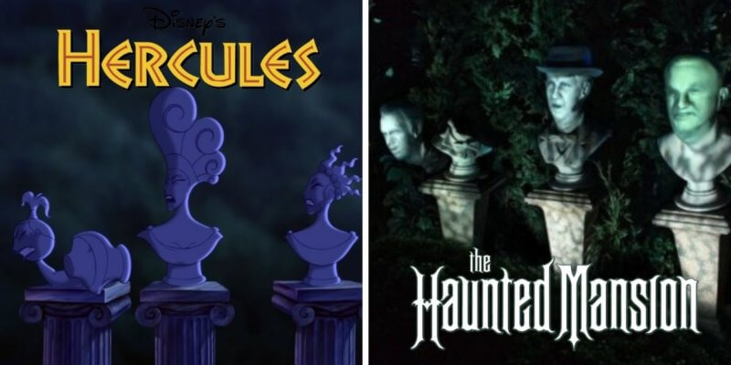 hercules muses and haunted mansion singing busts