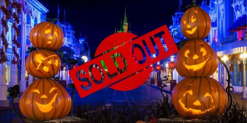 disney world boo bash selling out