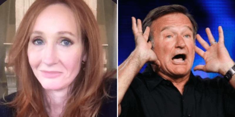 Jk Rowling (left) Robin Williams (right)