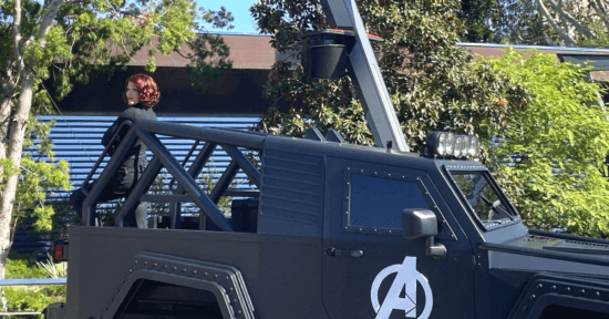 black widow at avengers campus