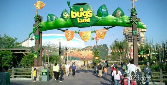 a bug's land at disney california adventure park