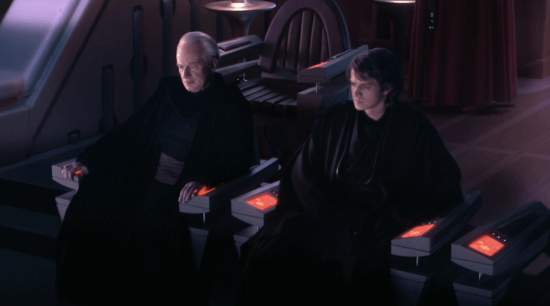 anakin and palpatine discussing darth plagueis