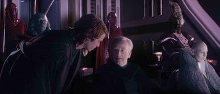 anakin skywalker and chancellor palpatine