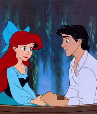 ariel and eric kiss the girl animated