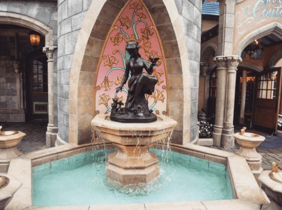 cinderella fountain crown on her head