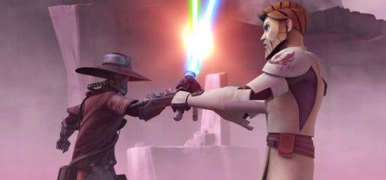 cad bane and obi-wan kenobi lightsaber duel
