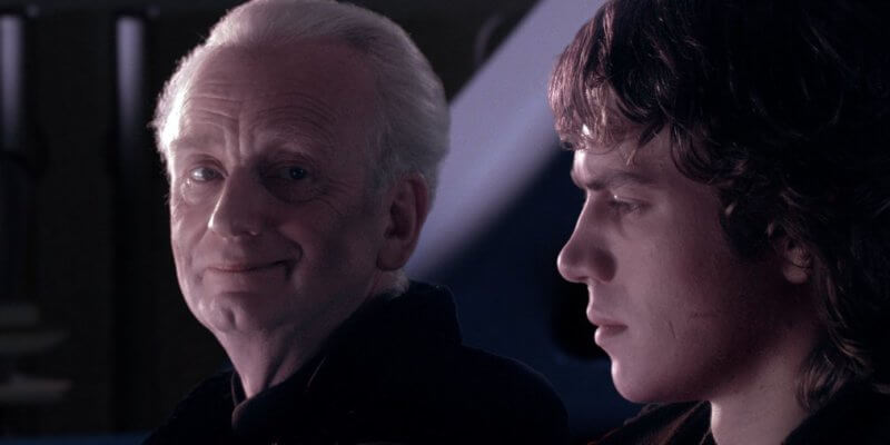 chancellor palpatine and anakin skywalker in revenge of the sith