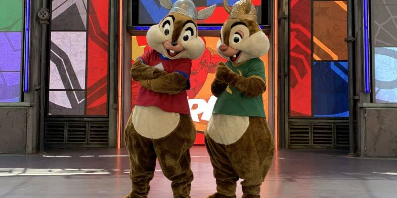 Chip and Dale at Disney California Adventure