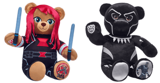 deadpool black widow black panther build a bear
