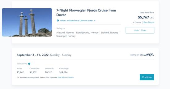 disney cruise line fall 2022 san diego