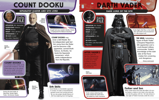 count dooku and darth vader character encyclopedia pages