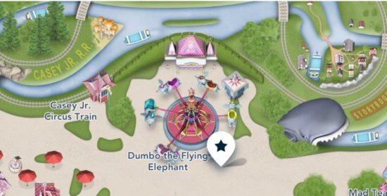 Dumbo in Disneyland