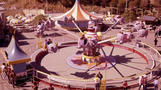 Dumbo The Flying Elephant in Disneyland