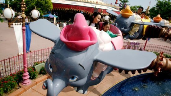 Dumbo in Hong Kong Disneyland