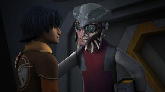 ezra bridger (left) and hondo ohnaka (right) in star wars rebels