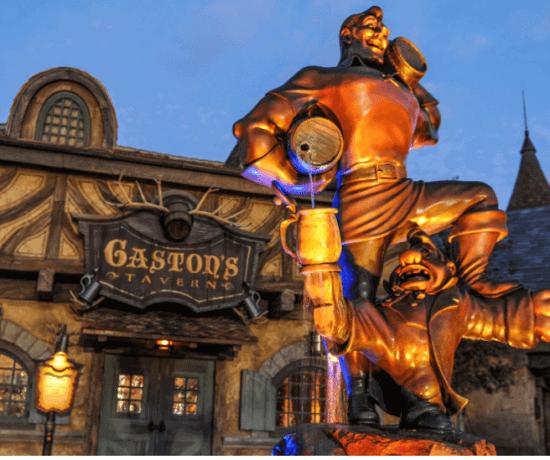 gaston's tavern in fantasyland