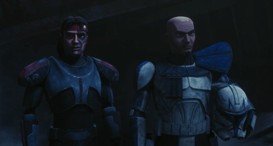 hunter (left) and captain rex (right) in the bad batch