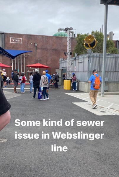 sewer issue at web slingers