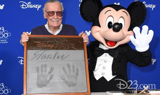 Stan Lee, Disney Legend, with Mickey Mouse