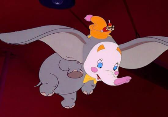 Clown Dumbo and Timothy mouse, feature film