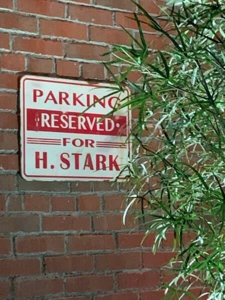 Howard Stark parking Avengers Campus