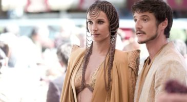 indira varma (left) and pedro pascal (right) in game of thrones